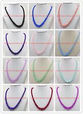 Wholesale 6-14mm Ruby Amethyst Alexandrite Gemstone Round Beads Necklace 18''