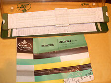 Faber Castell No. 2/82 Precision Slide Rule With Box And Instructions. Germany