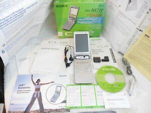 Sony Clie Handheld PALM OS PDA Handheld Organizer - Silver PEG-NX73V INCOMPLETE