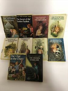 Nancy Drew Book Lot of 10 Matte Covers Vintage Hardcovers 1959-1970's
