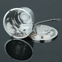 Practical Tea Ball Mesh Strainer Infuser Filter 304 Stainless Steel Herbal New