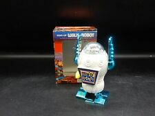 original vintage windup Walk Robot toy figure Mib plastic wind-up +original box