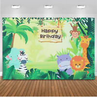 Animal Jungle Safari Photography Backdrop Birthday Party Decor Vinyl Reusable