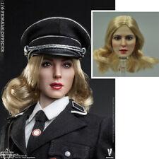 Segunda Guerra Mundial VCF-2036 1/6 Escala Escultura de cabeza/modelo oficial Hembra Movible