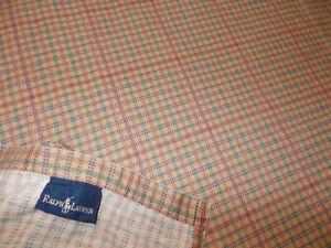 Rare Ralph Lauren Churchill Plaid Check Queen Flat Sheet Brianna