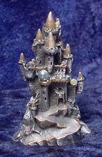 Detailed PEWTER CASTLE with SWAROVSKI CRYSTALS - Satin Matte Finish