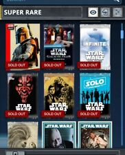 Topps Star Wars Card Trader Pick Any 9 cards from My Account Super Rare, Awards