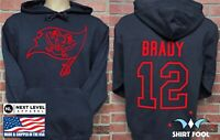 TAMPA BAY BUCCANEERS  TOM BRADY ***GOAT LOGO*** DOUBLE SIDED JERSEY HOODIE