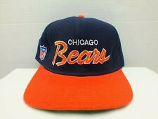 VINTAGE SPORTS SPECIALTIES CHICAGO BEARS SCRIPT FOOTBALL FITTED 7 3/8 HAT CAP