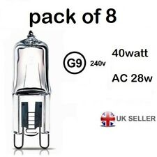 G9 light output 40w ac 28w  Halogen Bulb 350 Lumens 240V Clear Capsule Lamp 8
