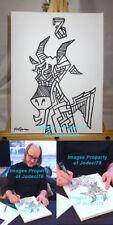 *WHITE STRIPES* Rob Jones Signed Original 9x12 Canvas Sketch EXACT PROOF Mondo