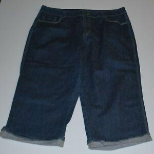 Beme plus size 3/4 denim jeans Size 16
