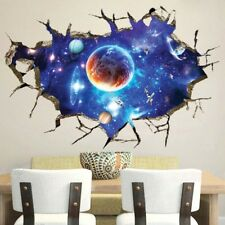 Space Galaxy Planets Universe 3D Wall Sticker Living Room Bedroom Home Decor EZ