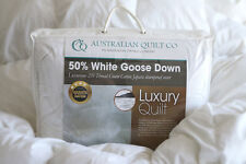 NEW Quilt White Goose Down 50% Double Duvet/Doona Blanket warmth 3 SB/DB/QB/KB