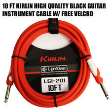 """Kirlin 10 ft Guitar Instrument Patch Cable Cord Free Cable Tie 1/4"""" RED LGI-201"""