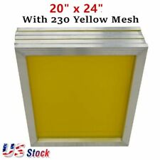 Usa 6pcs 20 X 24 Aluminum Frame Silk Screen Printing Screens 230 Yellow Mesh