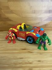 Playskool Heroes Iron Man Car Hover Car Bundle Hulk Bruce Banner