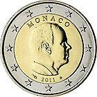 2 EURO MONACO 2011 *** Prins Albert - Prince Albert !!!
