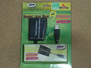 XBOX ORIGINAL CONTROLLER CONVERTER ADAPTER PC USB NEW! Mayflash Super Joy Box 9