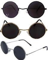 John Lennon Sunglasses Round  Shades Retro Black or Silver Frame Smoked Lenses