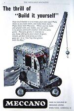 1953 Meccano Construction Sets ADVERT Mobile Crane - Original Print AD