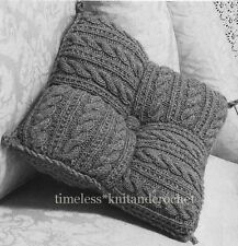 VINTAGE KNITTING PATTERN FOR PATCHWORK CUSHION FROM SQUARES - 250 grams of ARAN