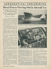 1952 Aviation Article New Diesel Power Aircraft Engine Testing Research