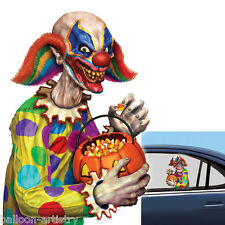 Halloween CREEPY CLOWN Car Window Cling Decoration