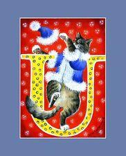 "Alphabet Cat ACEO Print Letter ""U"" by I Garmashova"