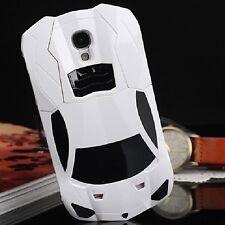 Estuche Carro De Carrera Blanco Para Samsung Galaxy S4 Caja Funda Protector