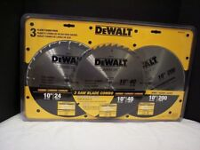 "Dewalt 3 Blade Combo Pack, 10"" 24, 40 & 200 Teeth DW314024200"