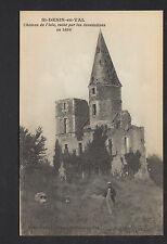 SAINT-DENIS-en-VAL (45) TOUR du CHATEAU ISLE animé , aprés inondation de 1866