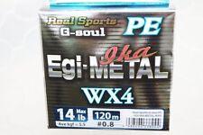 Ygk Real Sports G-soul Pe Egi & Metal Wx4 Pe 120m Hanger Pack 14lb #0.8