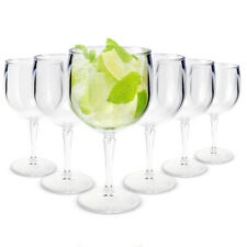 RB Balloon Gin Cocktail Glasses Premium Plastic Unbreakable Reusable 40cl, Set o