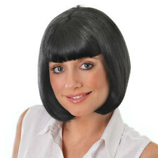 MIA WIG BLACK SHORT HAIRED WITH FRINGE PULP FICTION FANCY DRESS PARTY