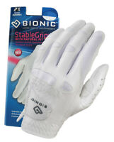 Bionic Golf Glove - StableGrip - Womens Left Hand - White - Leather - Medium
