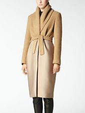 Max Mara Camel Hair coat with silk Atelier fitted cut IT 36 UK4/6