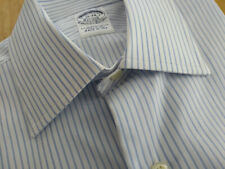 NWOT Brooks Brothers Egyptian Cotton Blue Spread Collar Slim Fit MSRP $185