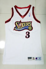 Allen Iverson 97-98 76ers Sixers Game Worn Used Issued Home Jersey Pro Cut