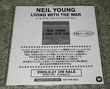 NEIL YOUNG Japan PROMO ONLY 10 track CD acetate LIVING WITH official MORE LISTED