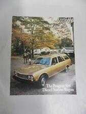 Vintage Peugeot 504 Diesel Station Wagon Car Sales Dealer Brochure (A3)