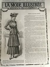 MODE ILLUSTREE SEWING PATTERN April 11,1915 - Simple dress, blouses...