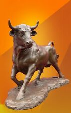 More details for bronze bull statue hot cast french barye animal farmyard figure sculpture