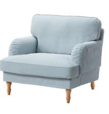 IKEA Slipcover for Stocksund Armchair Remvallen Blue White - New Sealed