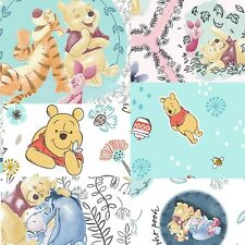 6 Options Winnie the Pooh Bear & Friends Piglet Tigger Eeyore Cotton Fabric
