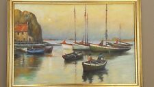 "MARONIEZ Georges "" Back to the quay  reproduction sur toile par Elite-painting."