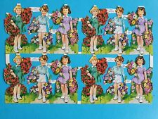 MLP VINTAGE SCRAPS FLOWER BOYS AND GIRLS  SHEET NO 877   9,1/2 X  6, IN
