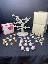 Lenox Tree Miniature Ornament Tree Set Autumn Favorites Easter Irish