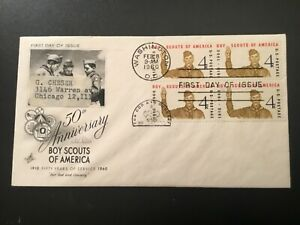 ICOLLECTZONE 1960 US 50th Anniversary Scouting FDC (C800)