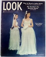 LOOK Magazine April 29 1947 Turner Berle Fishing Baseball Movie Ad Polly Pigtail